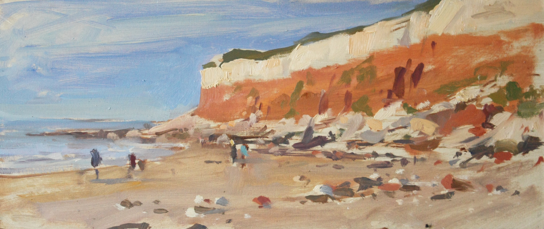 Evening light, Hunstanton cliffs