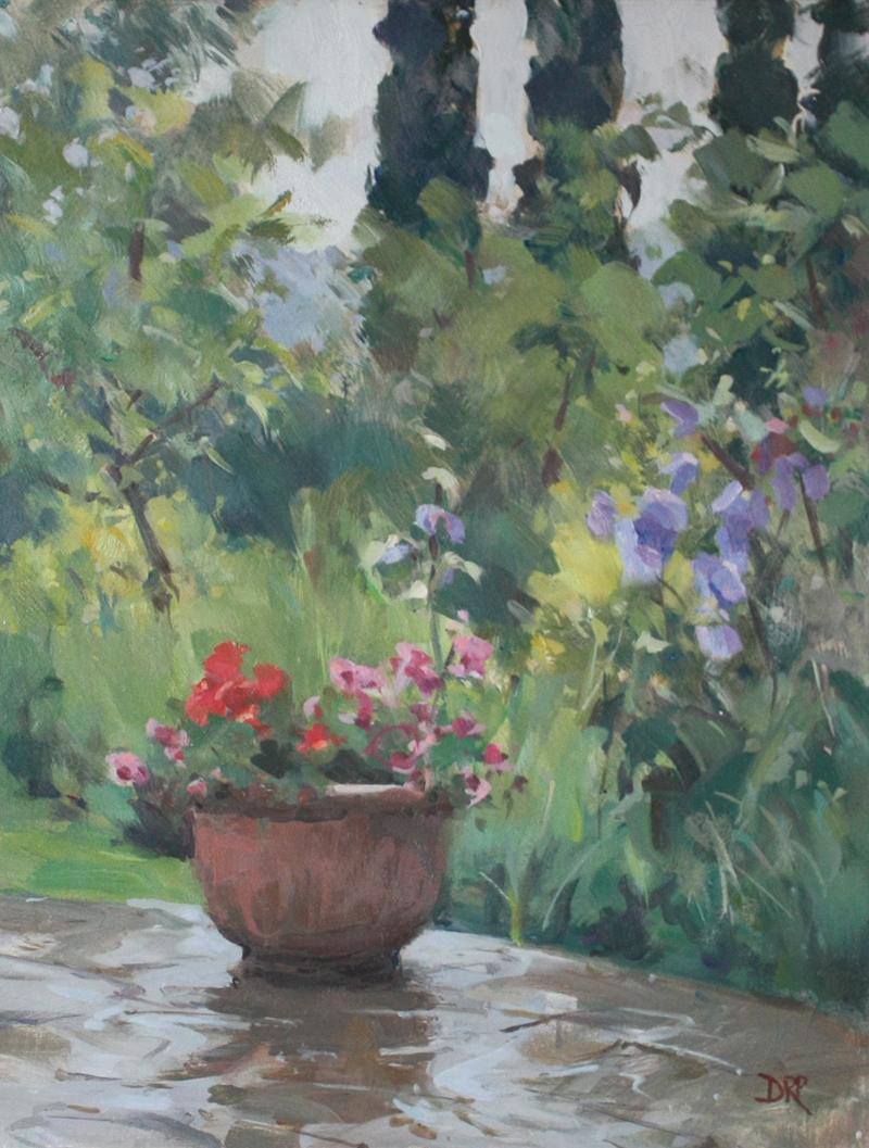 Rain on the terrace, Umbria