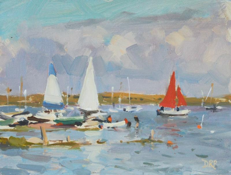 Setting sail, Brancaster Staithe