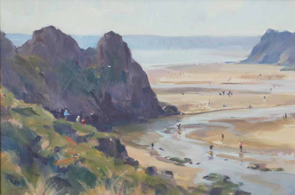 Hazy Sun, Three Cliffs Bay