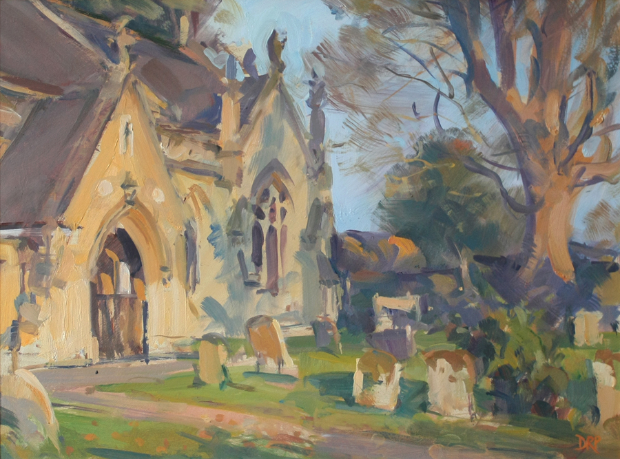 Warm sunshine, Calverton Church