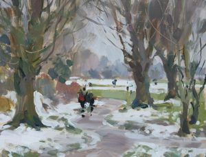 'Melting snow, a winter walk - Stony Stratford'