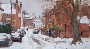 Heavy snow, Mill Lane, Stony Stratford