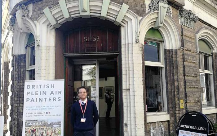 A shot of me outside the gallery