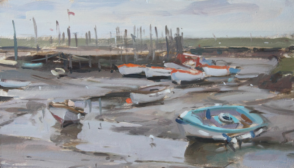 Resting boats at low tide, Morston